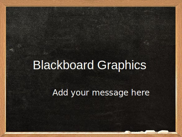 blackboard powerpoint template