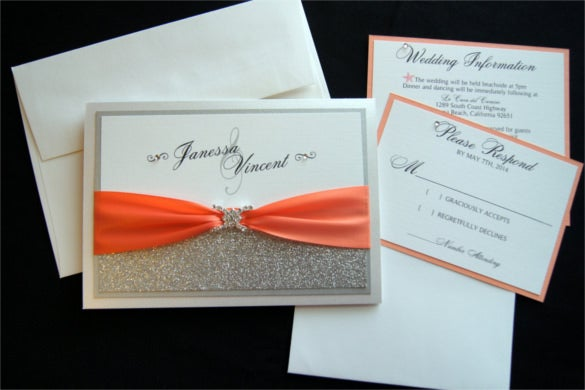 15  pocket wedding invitation templates