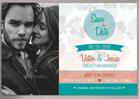 save the date postcard template with custom photograph - Free Save The Date Postcard Templates