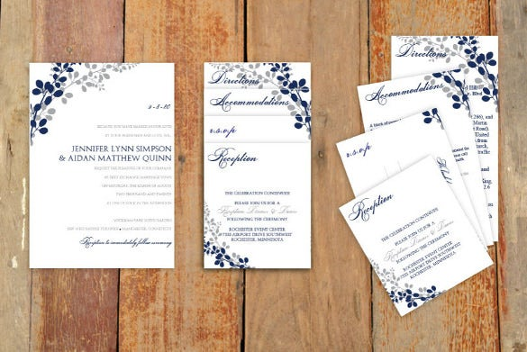 microsoft word format pocket wedding invitation
