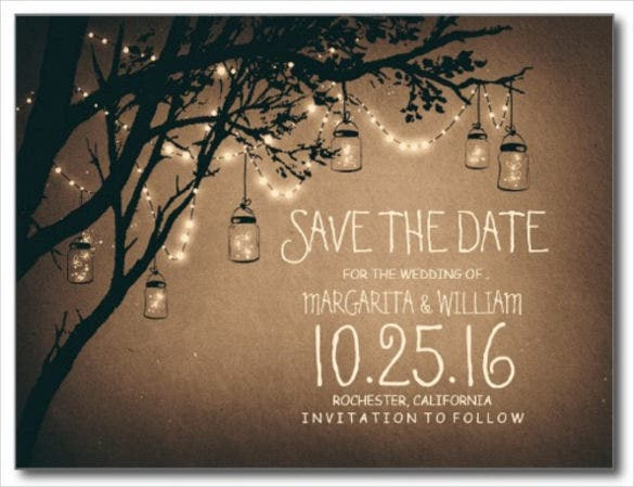 Save the date postcard template 25 free psd vector eps for Online save the date template free
