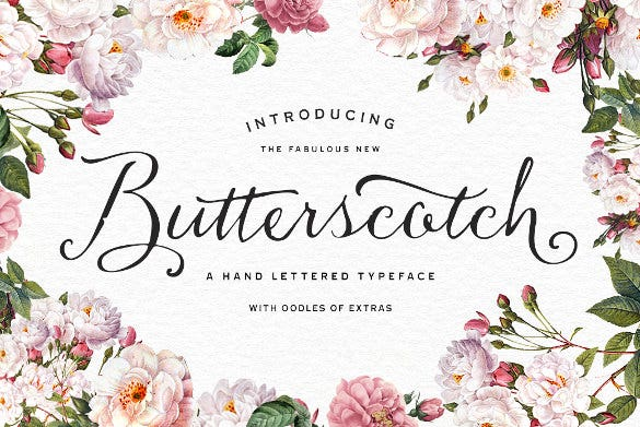 butterscotch typeface