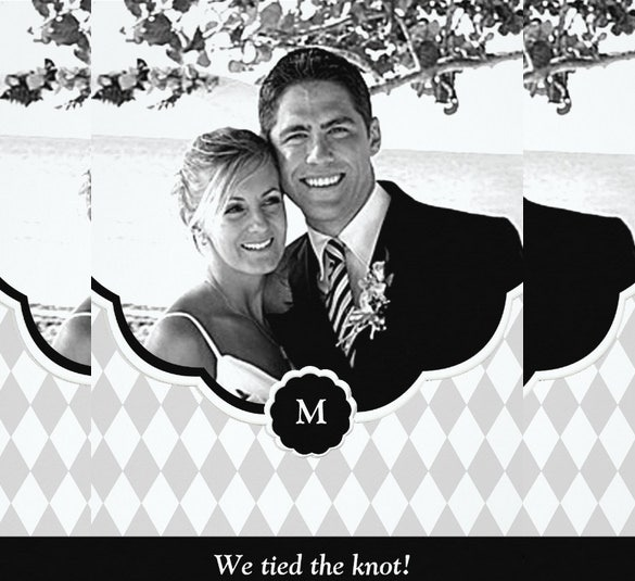 diamond monogram photo wedding