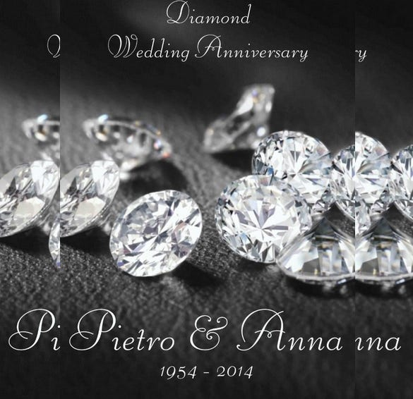 diamond anniversary wedding invitation