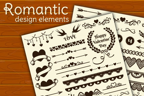 romantic design elements