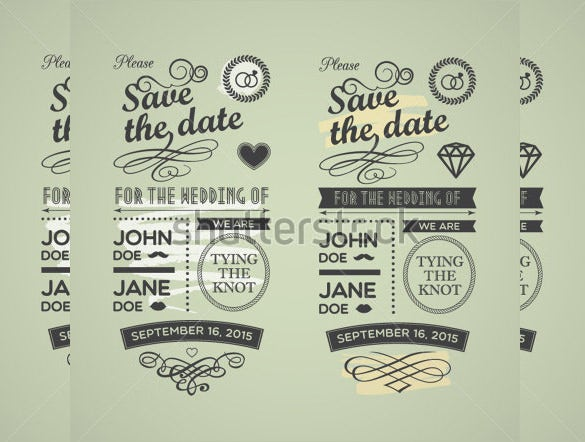 simple coloured save the date postcard invitation for wedding