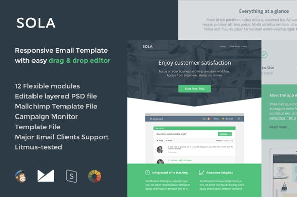 sola emaii invitation template builder