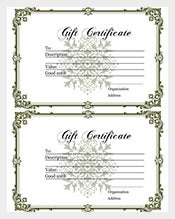 home made gift certificate