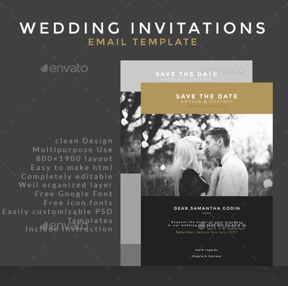 Wedding Invitation Email Template Psd