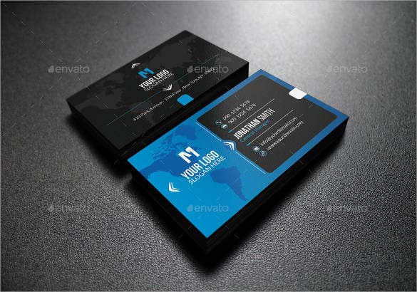 34 free business cards psd ai vector eps free premium templates blue and blue business card template wajeb Gallery