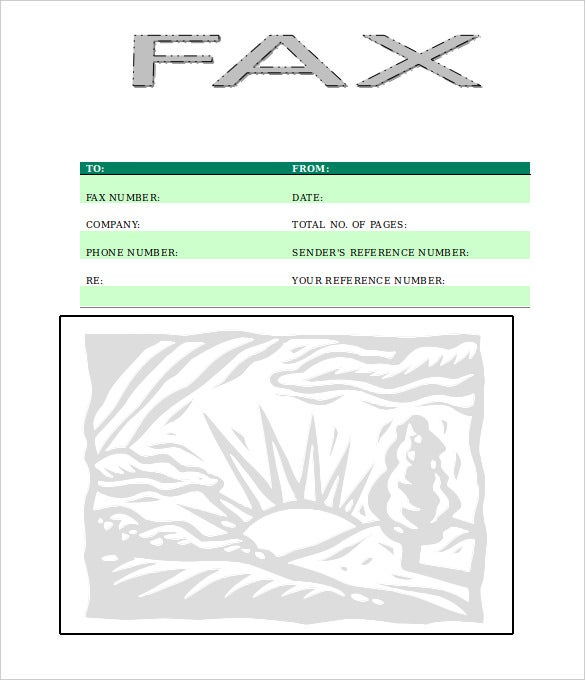 sample rising sun fax cover sheet blank download