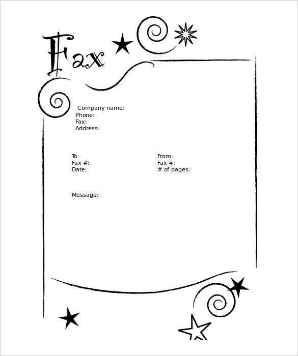 Sample Basic Fax Cover Sheet Standard Fax Cover Sheet With - Fax cover letter template microsoft word