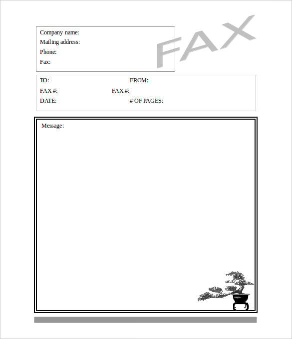 blank fax cover sheet template | trattorialeondoro