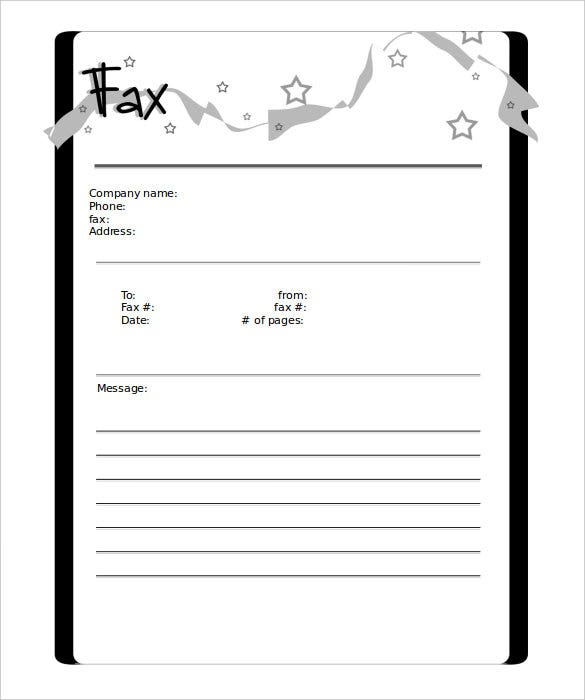 Compnay Design Free Blank Fax Cover Sheet Format Download  Blank Fax Cover Sheet Free
