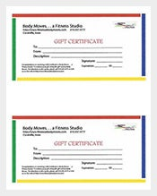 155 gift certificate templates free sample example for Gym gift certificate template