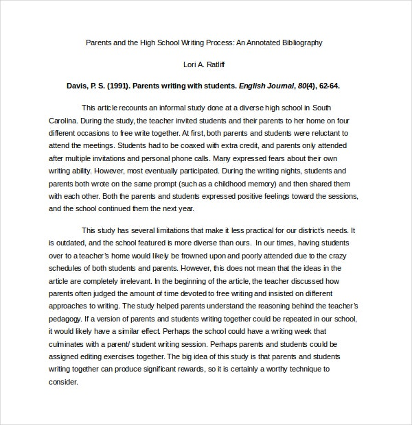 free apa annotated bibliography word document download