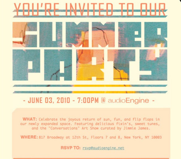 Create Invitation Template: 20+ Email Invitation Templates - PSD, AI, Word