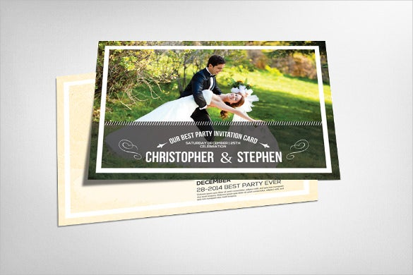 colourful save the date 4x6 postcard template