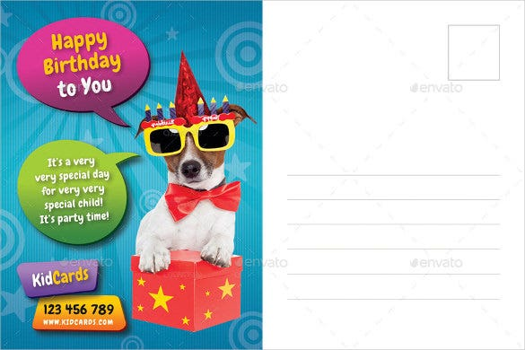 postcard template for kids birthday