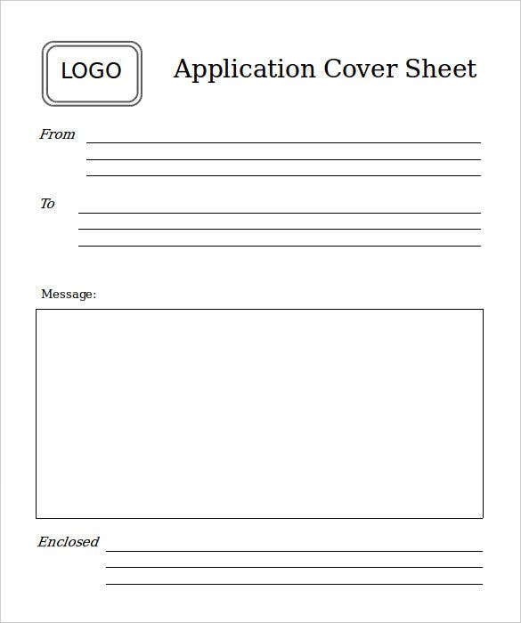 application simple fax cover sheet sample download
