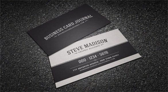 classic black white vintage business card template