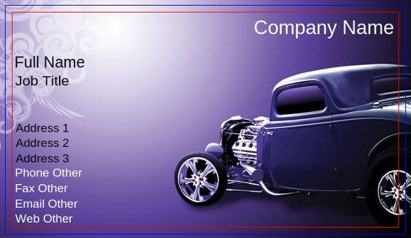 download purple hot rod business card template1