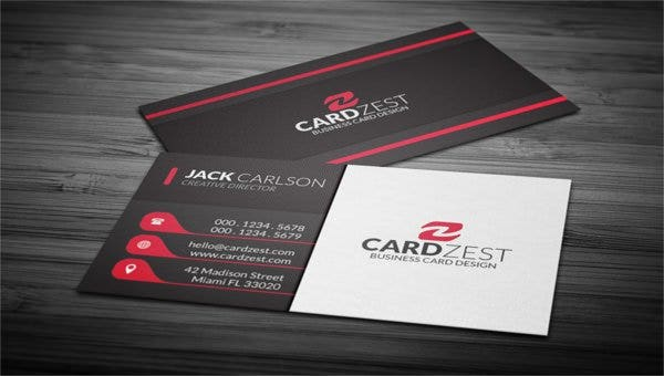 subtle vertical lines business card template