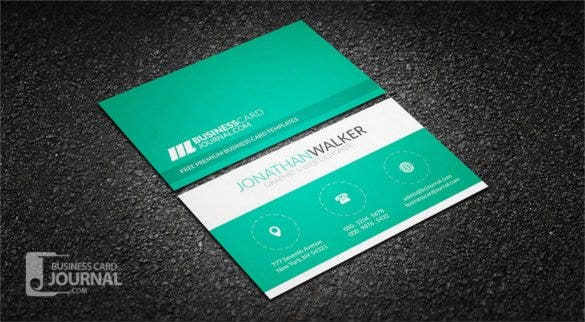 Minimal Creative Business Card Template Free PSD Format