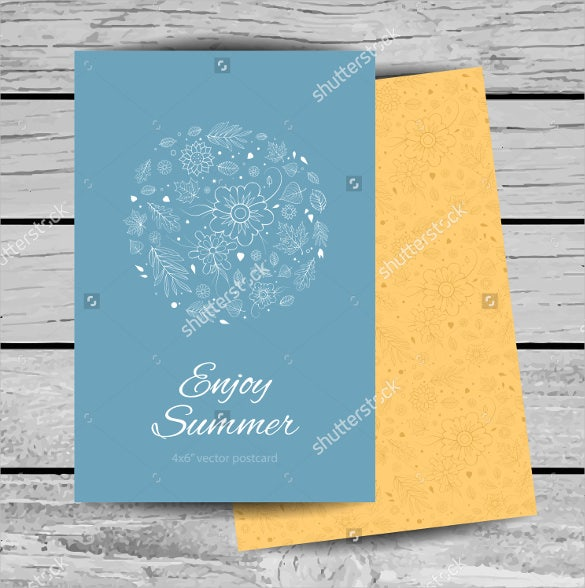colourful elegant 4x6 postcard template