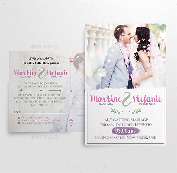 28 Modern Wedding Invitation Templates Free Sample Example