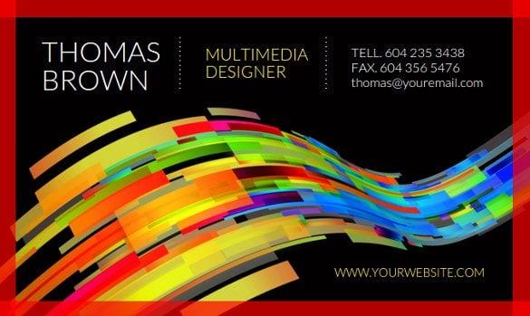 multimedia designer business card creator free1