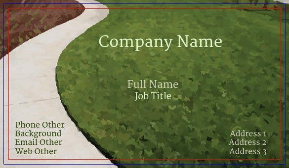 online edit download green lawn business card temp
