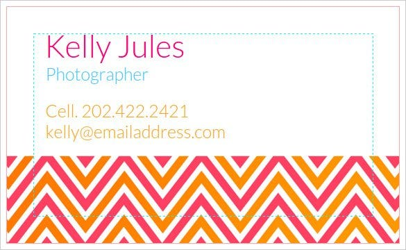 photographer business card template online free1