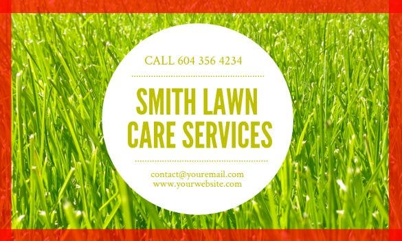 Free Business Cards Free Download Free Premium Templates - Lawn care business cards templates free