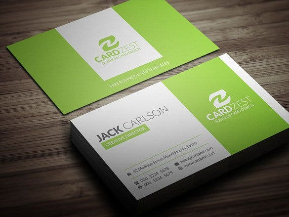 stylish refreshing lime green business card templa