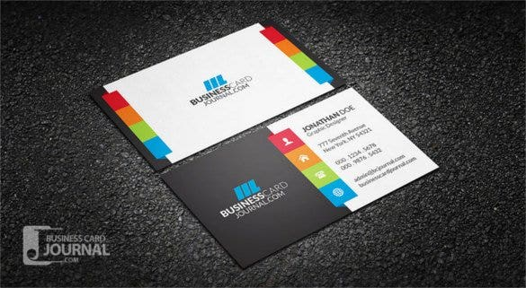 30 free business cards free download free premium templates vibrant multi color business card template free download psd reheart Images