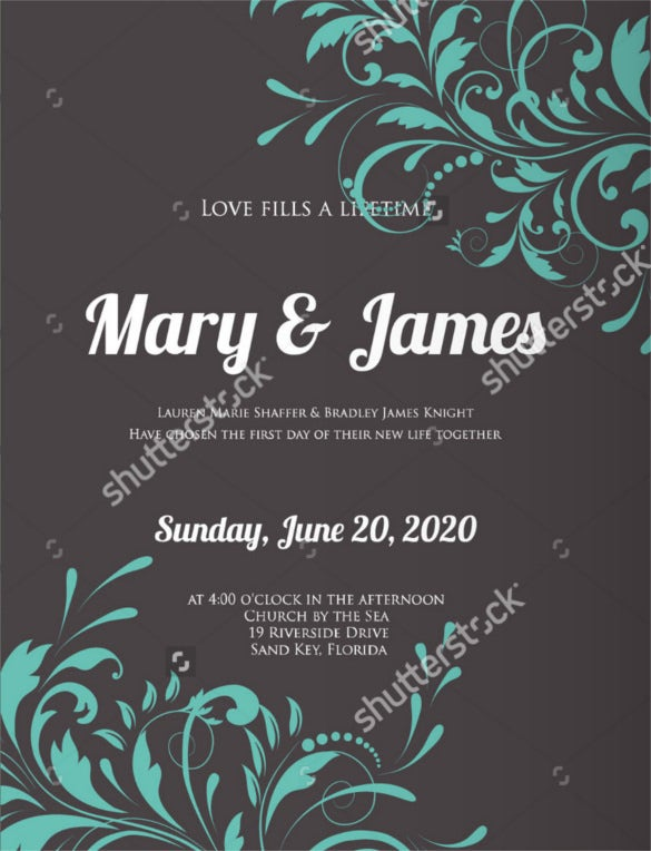 27  modern wedding invitation templates