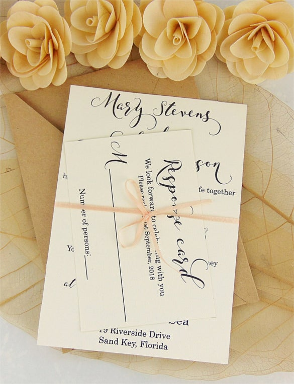 elegant modern wedding invitation
