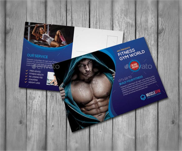 beautiful 4x6 postcard template for fitness