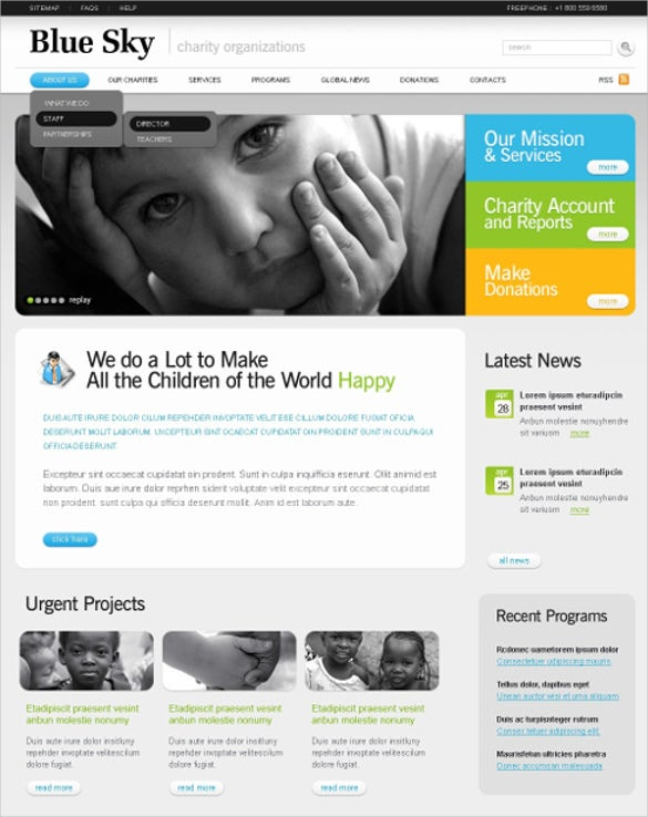 20 charity psd themes templates free premium templates