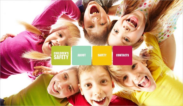 beautiful childrens safty charity psd template