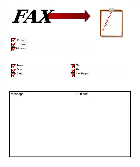 Professional Clipboard Fax Cover Sheet Template Free Sample