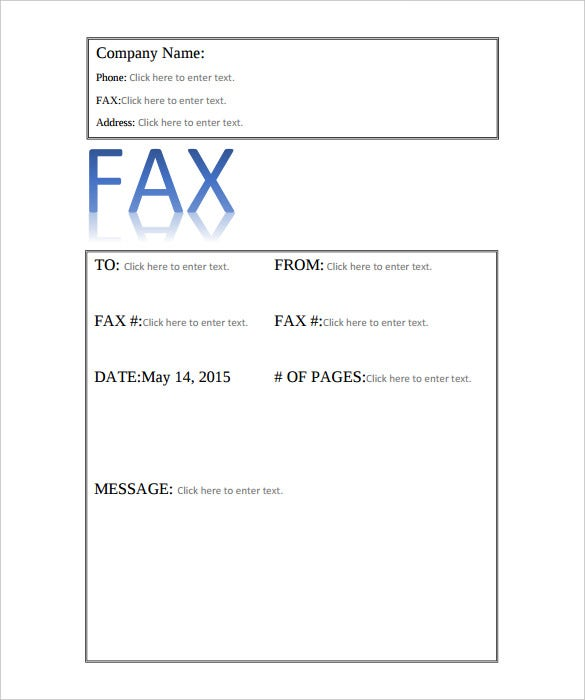 9  professional fax cover sheet templates