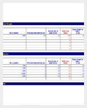 Warehouse Inventory Calculator Template Example Format