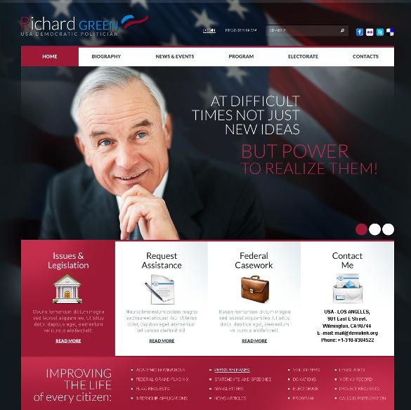 premium political candidate psd template