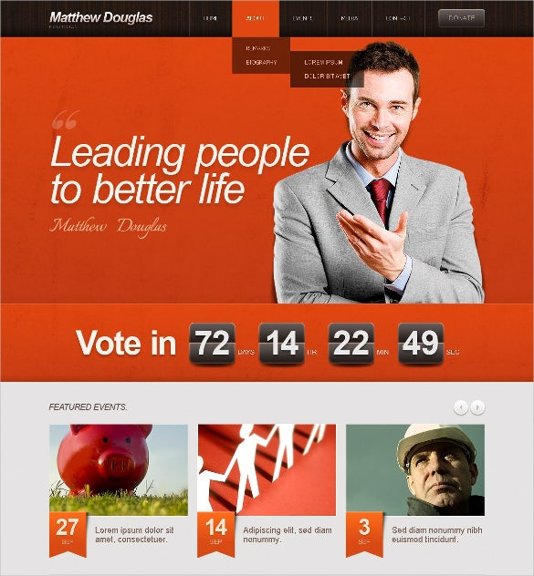 beautiful political candidate wordpress theme