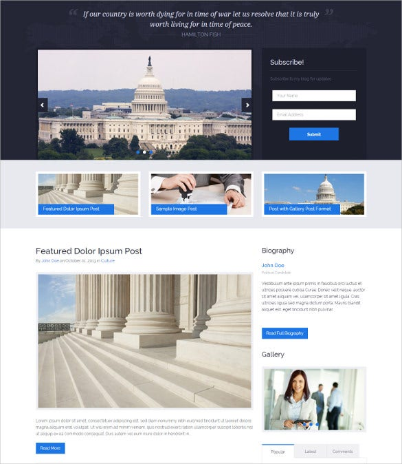 political press responsive wordpress theme