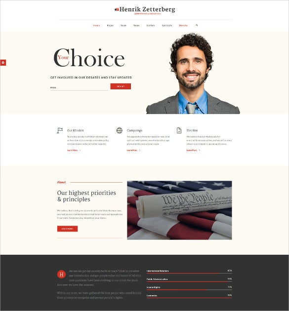 political non profit wordpress theme
