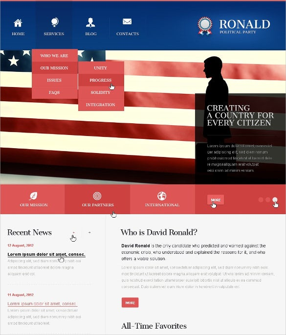 political party joomla template