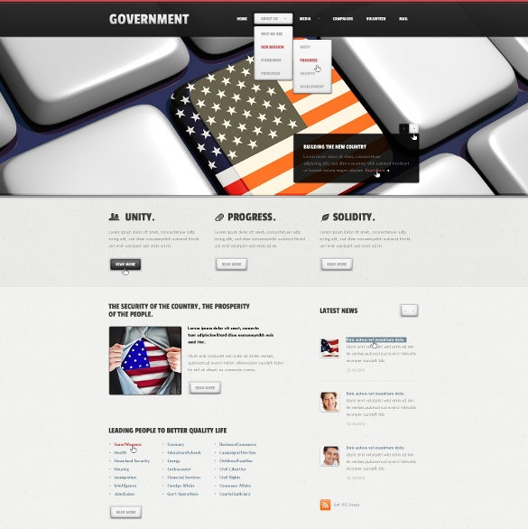 political government joomla template